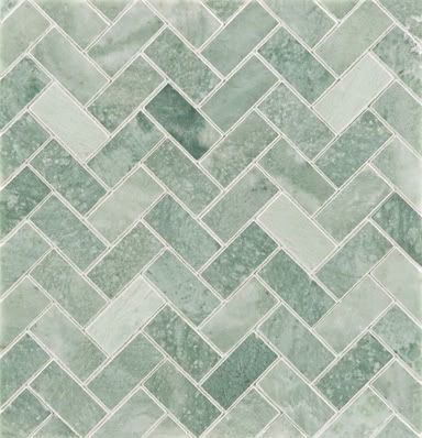 Ming Green Marble Herringbone Pattern Trying To Find This Somewhere Green Tile Backsplash Green Bathroom Green Marble