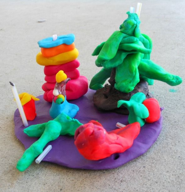 Lego Sculptures With Play Doh Play Doh Lego Sculptures