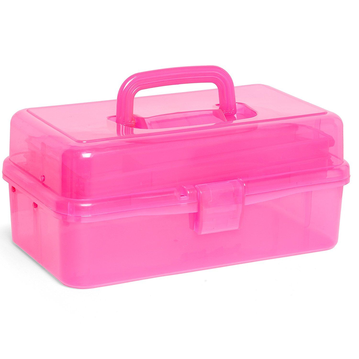 Shop Craft Scene Caddy Box Storage Craft Art Large Tiered Organiser Fishing  Nail Art Various Colours (Baby Pink).