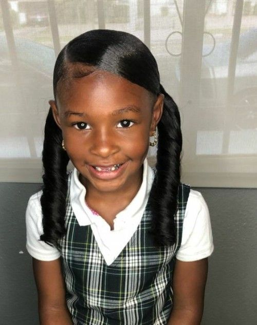 Little Black girls' 40+ Braided Hairstyles #girlhairstyles