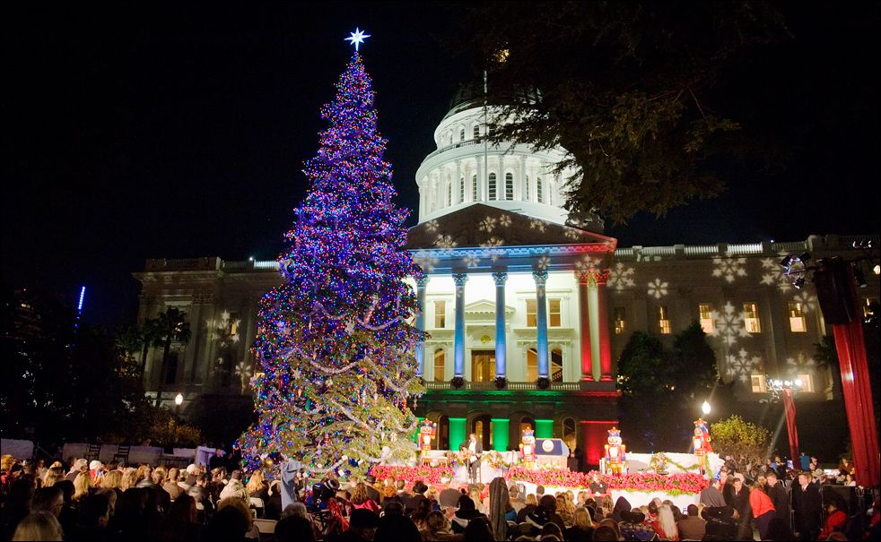 Image result for christmas lights sacramento capitol