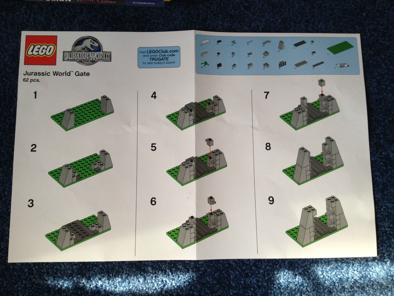 Best 25 lego jurassic park ideas on pinterest lego jurassic lego jurassic world gate toys r us building instructions the brick fan gumiabroncs Choice Image