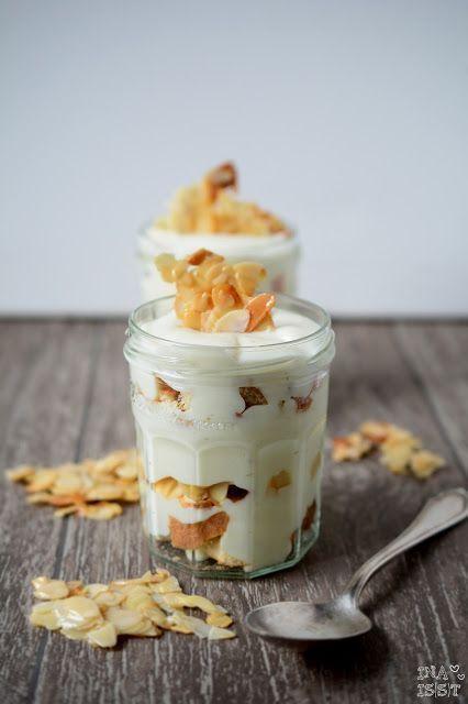 Piqure d'abeille dans un verre – Crème de piqûre d'abeille cassante aux amandes – Ina Eats   – Rezepte