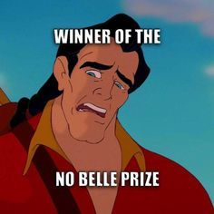 haaa ha ha ha. I probably shouldn't have laughed at this but I did so no turning back now #corny #belle #gaston #thepixieplanner thepixieplanner.com