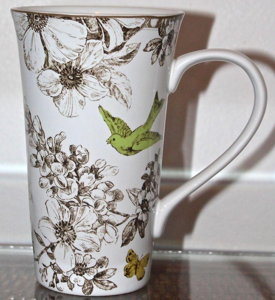 Pembroke Green Lattee Mug Coffee Tall Procelaine