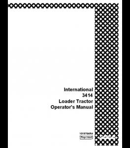 Best case ih international 3414 loader tractor operators
