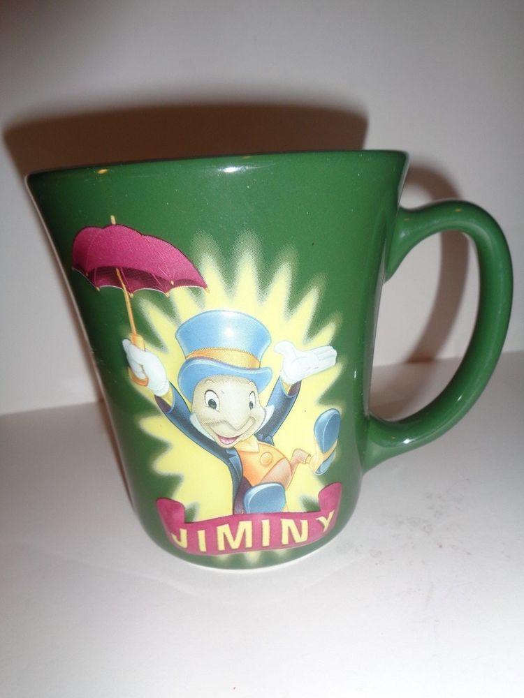 Disney Mug 3d Character Jiminy Crickets Disney Store Big Cup Green Disney Disney Mugs Mugs Disney Store