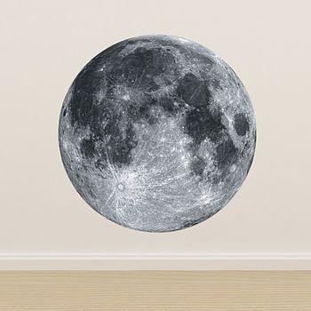 full moon wall sticker by oakdene designs   notonthehighstreet.com