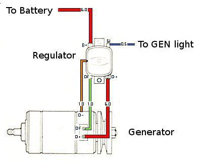 Vw Generator Light Wiring - wiring diagram on the net on