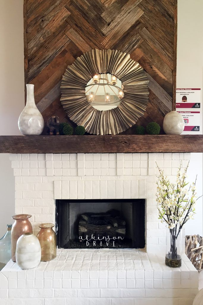 St Jude Dream Home Brick Fireplace Rustic Style And Bricks