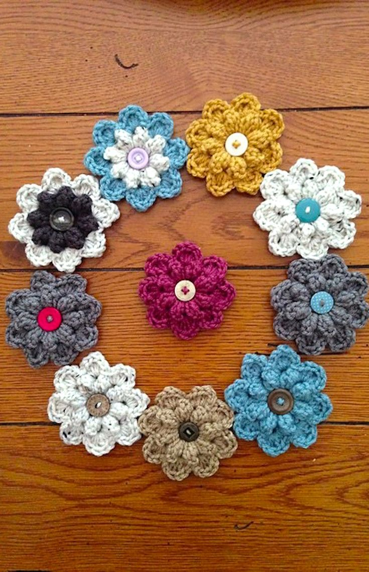 Free Crochet Pattern] Quick And Easy Autumn Berry Crochet Flower ...