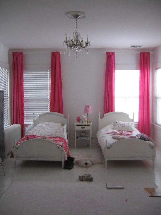 Delicieux Hot Pink Bedroom Ideas Design, Pictures, Remodel, Decor And Ideas   Page 3    Curtains