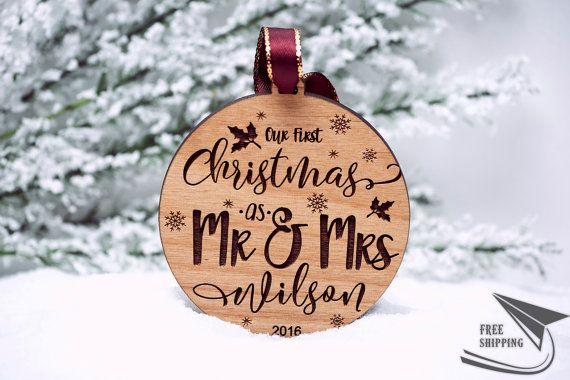 Our First Christmas Ornament Married - Personalized Christmas ...