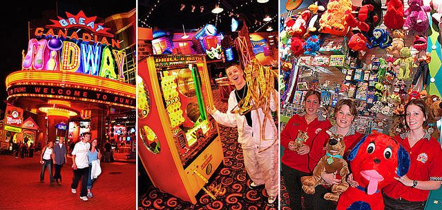 MY FAVOURITE ARCADE IN ALL OF ONTARIO!! I LOVE GOING HERE WITH MY FAMILY!!:)  The Great Canadian Midway on Clifton Hill in Niagara Falls.