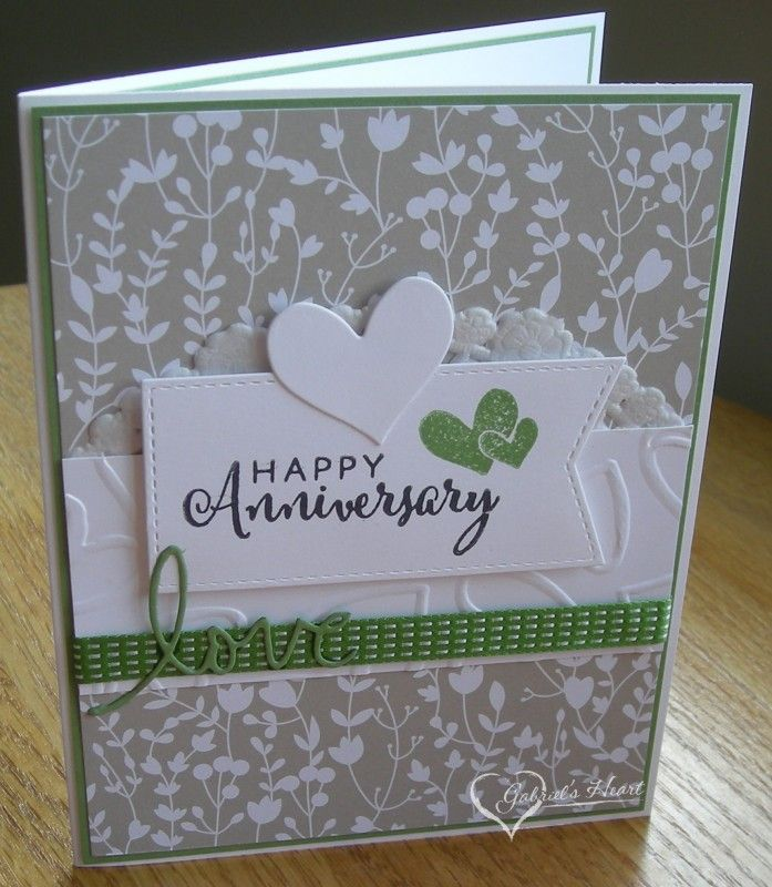 Everlasting Wild Wasabi Anniversary Love Vlvjul By Darbaby Cards And Paper Craft Anniversary Cards Handmade Cricut Anniversary Card Happy Anniversary Cards
