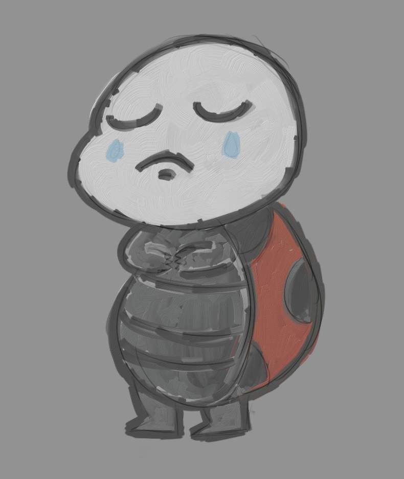 Sad Ladybug by Jesterius85.deviantart.com on @DeviantArt