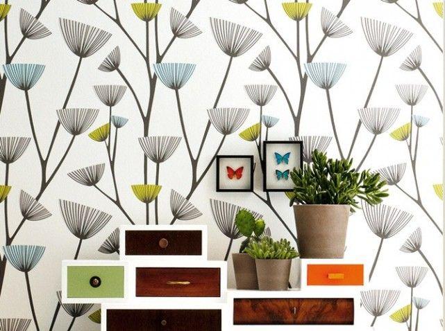 un nouveau papier peint tendance mille et une fleurs pinterest a rien papier peint et peindre. Black Bedroom Furniture Sets. Home Design Ideas