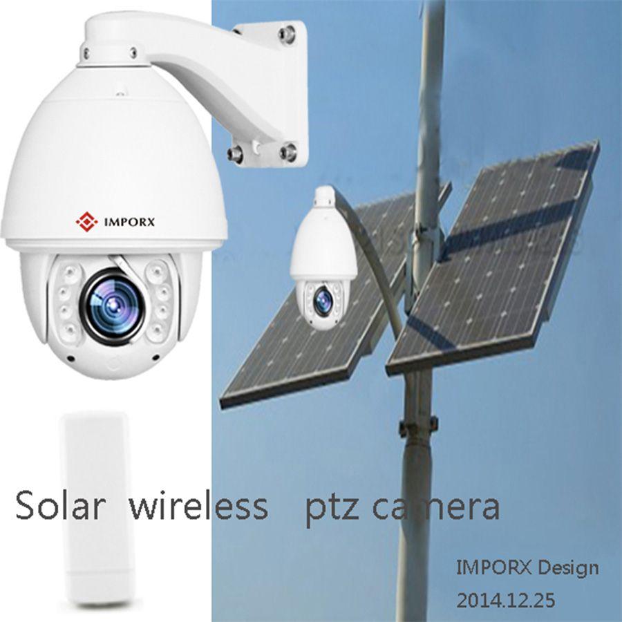 CMOS Sensor IR solar powered Outdoor Waterproof Dome Onvif H