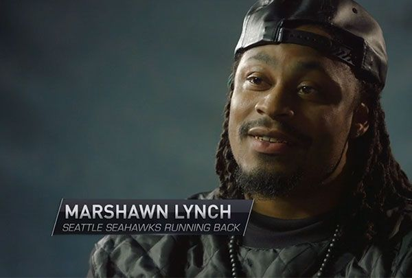 Marshawn Lynch Micheal Robinson The Rob Report moves up a notch Here Micheal Robinson at his new job interviewing hiw old teamamte Marshawn Lynch
