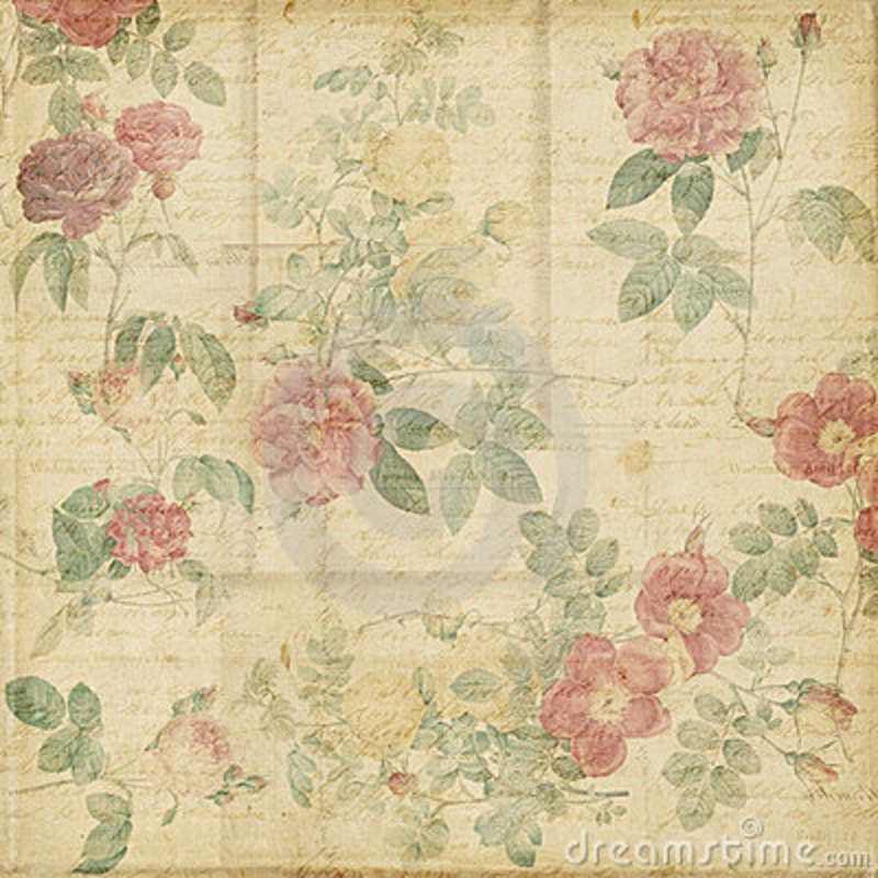 Old Paper Wallpaper: ... Vintage Roses Shabby Chic
