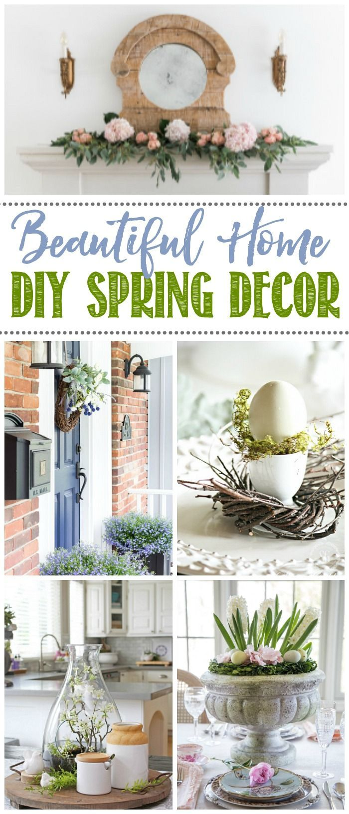 Love all of these simple DIY spring home decor ideas.   #springdecor #springdecorating #springDIY #DIY #homedecor #homedecorating