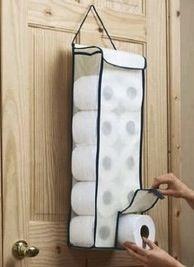 Door Toilet Paper Storage Bag Hanger Roll Organiser Paper