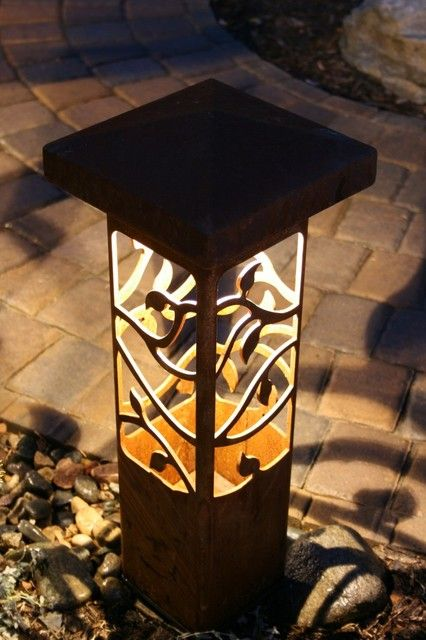 Contemporary Outdoor Lighting Which Has Variation Of Design: Fascinating  Decorative Steel Bollard Outdoor Lights Decorative
