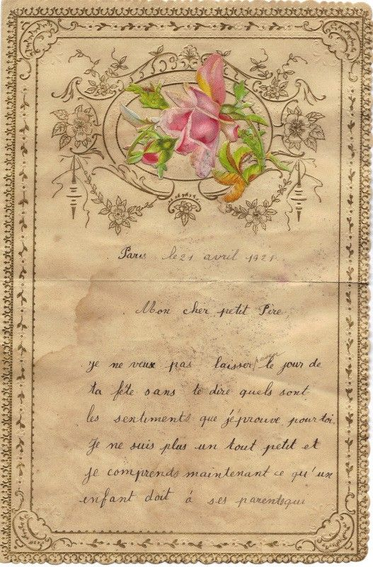 a handwritten letter From a child to her Father 1800s MY - free love letters for her