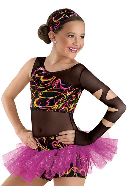 8bafa14d0073 Funky Print Top and Tutu Shorts; Weissman Costumes | Dance in 2019 ...