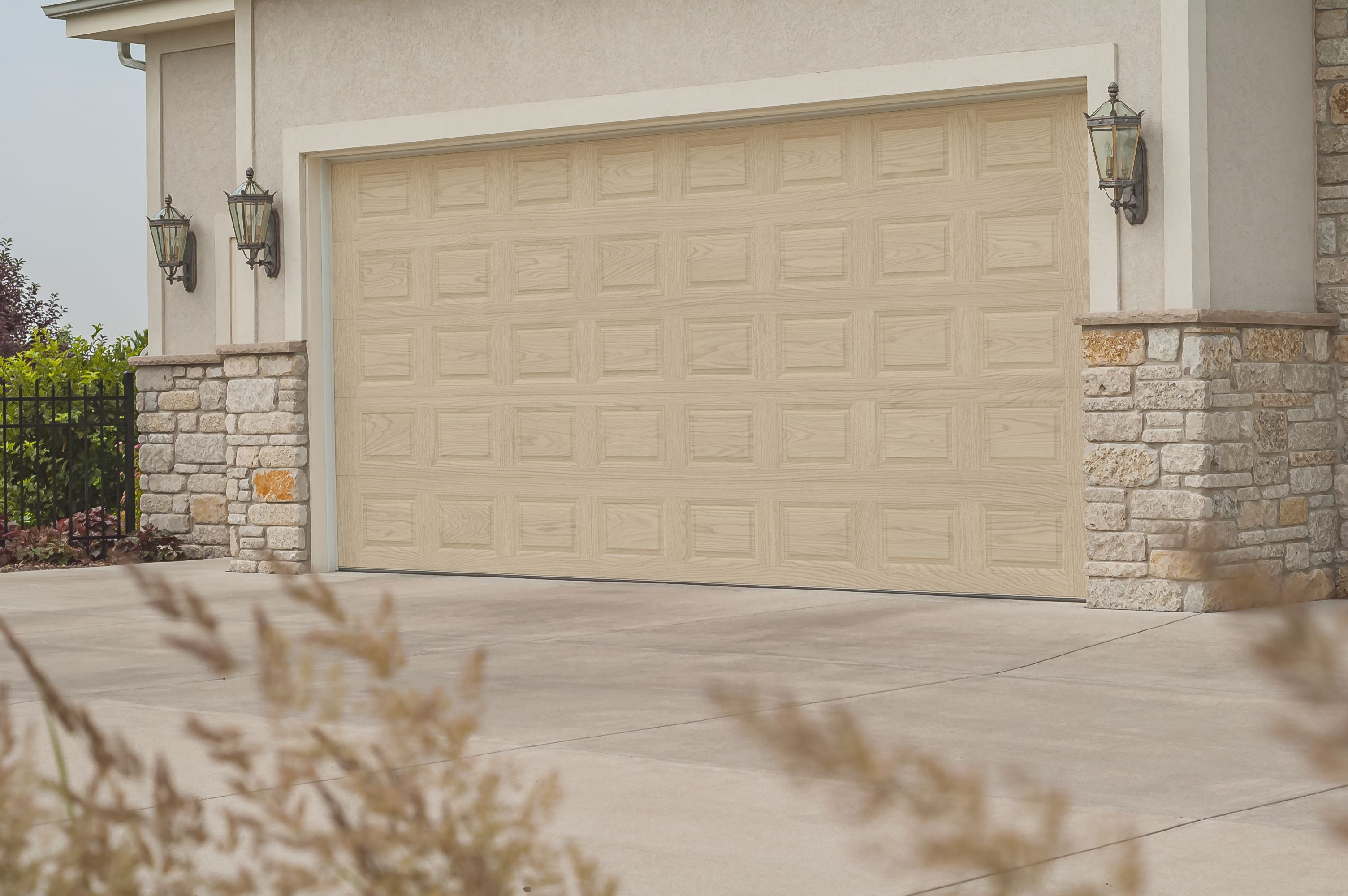 New Natural Oak Accents Woodtone By C H I Overhead Doors Garage Doors Garage Door Design Doors