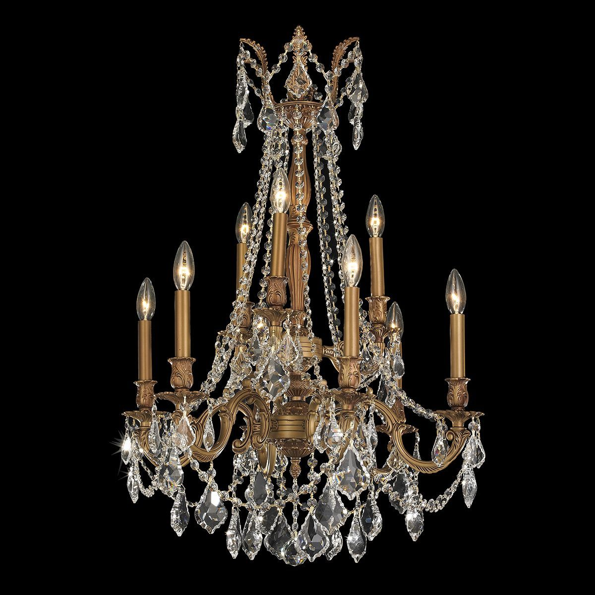 Windsor collection 9 light french gold finish and clear crystal 2 this elegant french gold chandelier features timeless brass and crystal construction the chandelier features 9 arubaitofo Choice Image