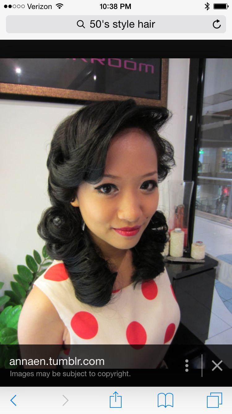 50s Style Hair Fun Hair Styles Pinterest Hair Style