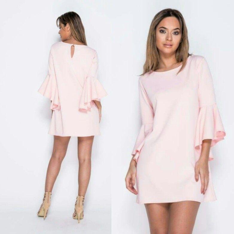 68dada5f58c Sukienka Bella (pudrowy roz) #sukienka #trapezowa   Sukienki w 2019 ...