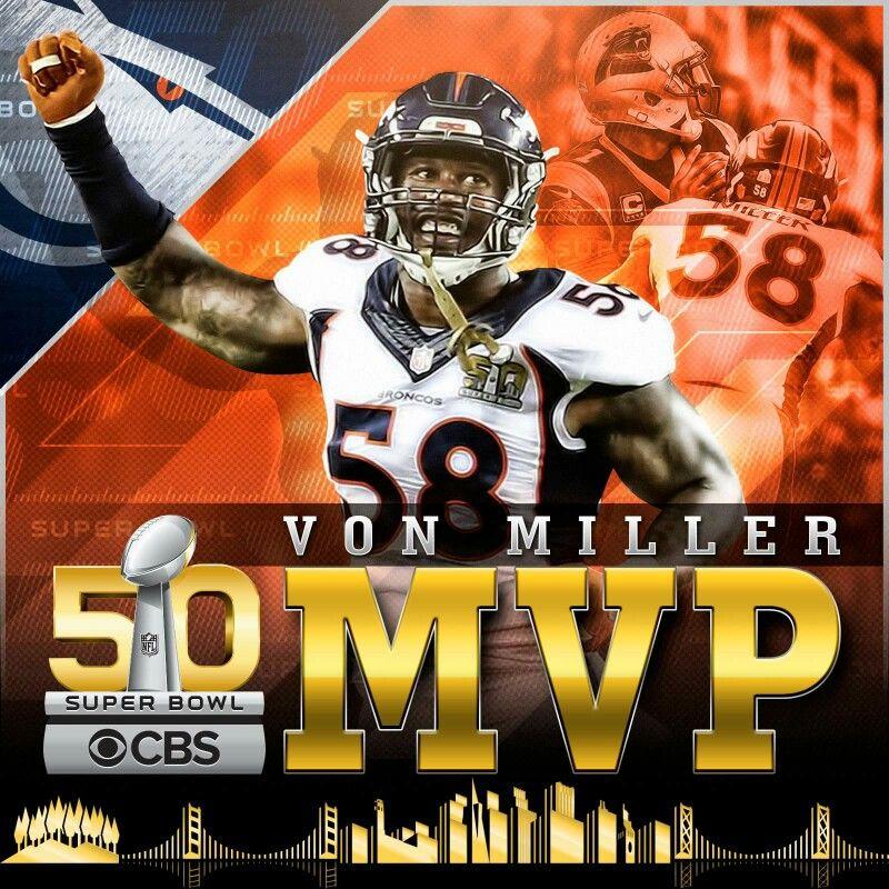 new product cc1fb 8e20a Denver Broncos Von Miller (MVP) | denver broncos quotes ...
