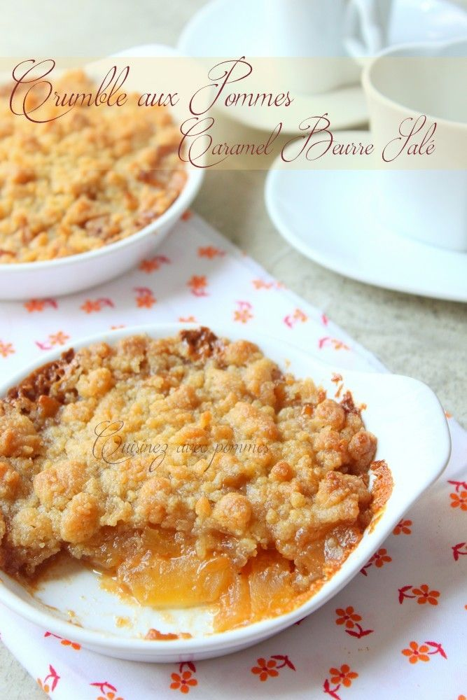 crumble aux pommes caramel beurre sal recette. Black Bedroom Furniture Sets. Home Design Ideas