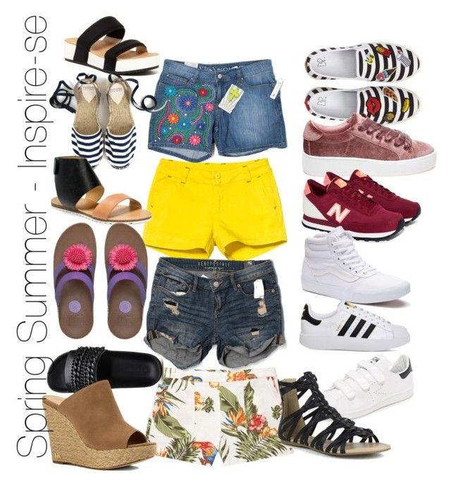 #Spring #Summer #shorts #sneaker #sandals #trends by anan-liza · Summer  ShortsNew BalanceSneakerSteve MaddenPolyvore ...