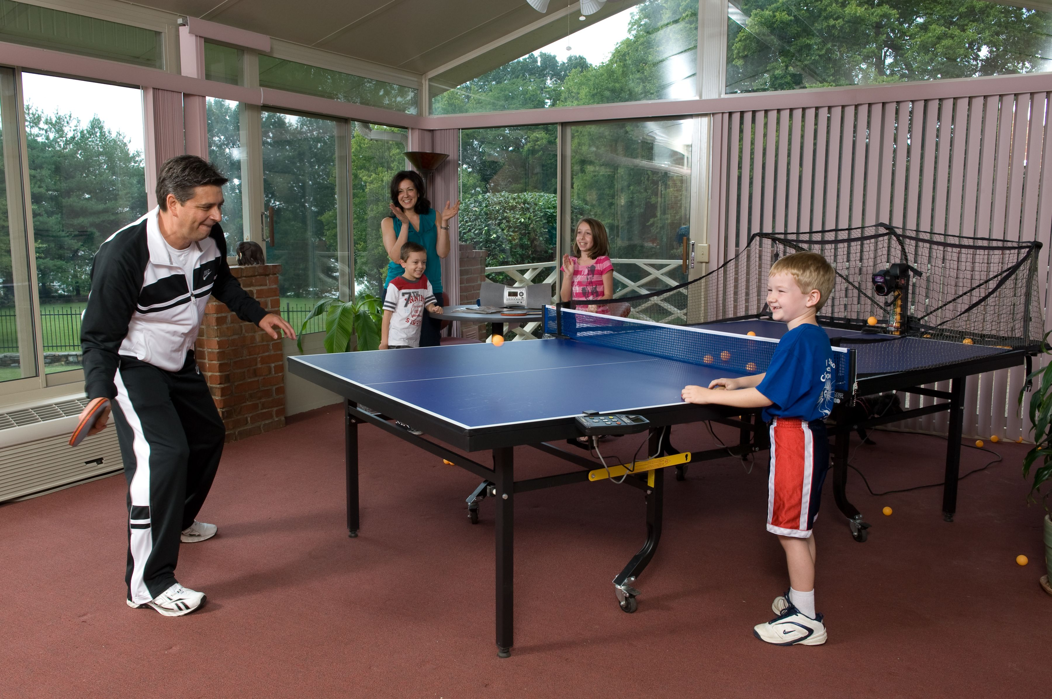 Image result for table tennis with family