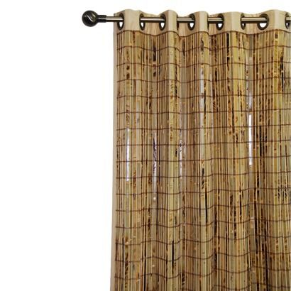 Bamboo Grommet Window Panel As Shower Curtain Bamboo Curtains