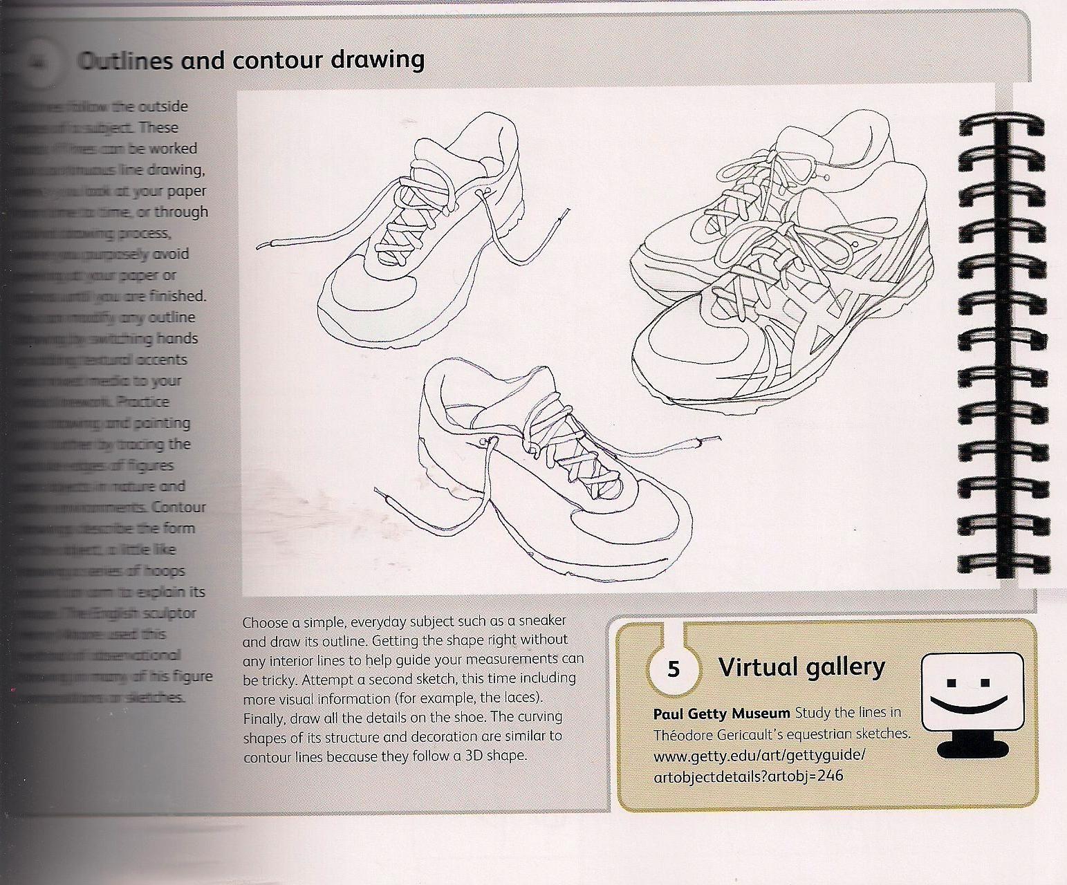 Contour Lines Shoes Exercise