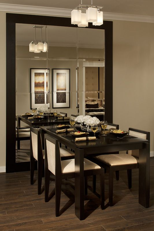 Big Mirror Mirror Dining Room Large Dining Room Dining Room Mirror Wall