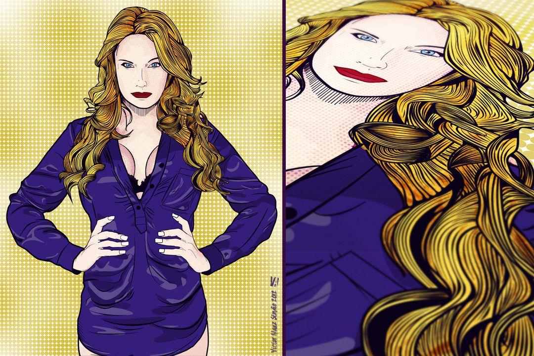 Female Illustration | Vexel and Liechestein Style by @VictorAlaez