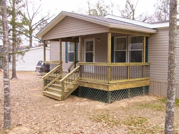Pin by sandy jordan on mobile home kitchen makeovers in - Front porch designs for modular homes ...