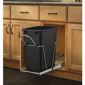 Rev A Shelf 35 Quart Plastic Pull Out Trash Can Minimum
