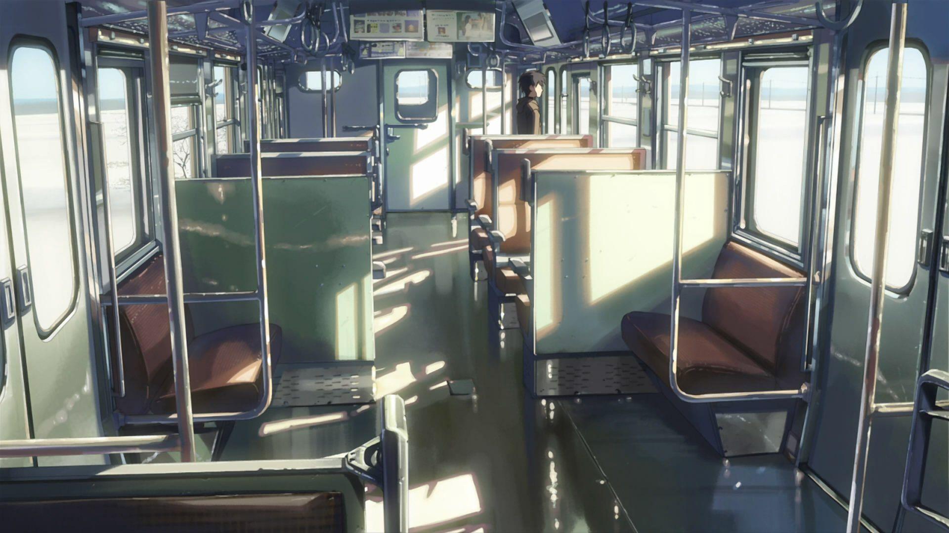 trains Makoto Shinkai 5 Centimeters Per Second anime