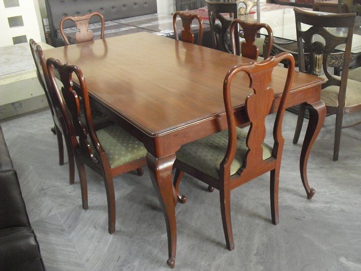Six Seater Dining Table For Features Chair Wooden