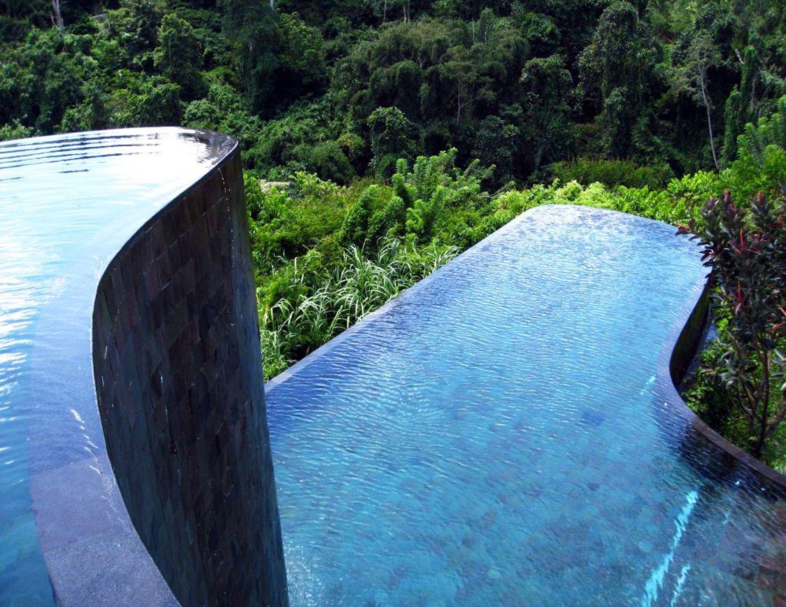 INFINITY POOLS  World Of Aerin  Ubud hanging gardens, Hanging