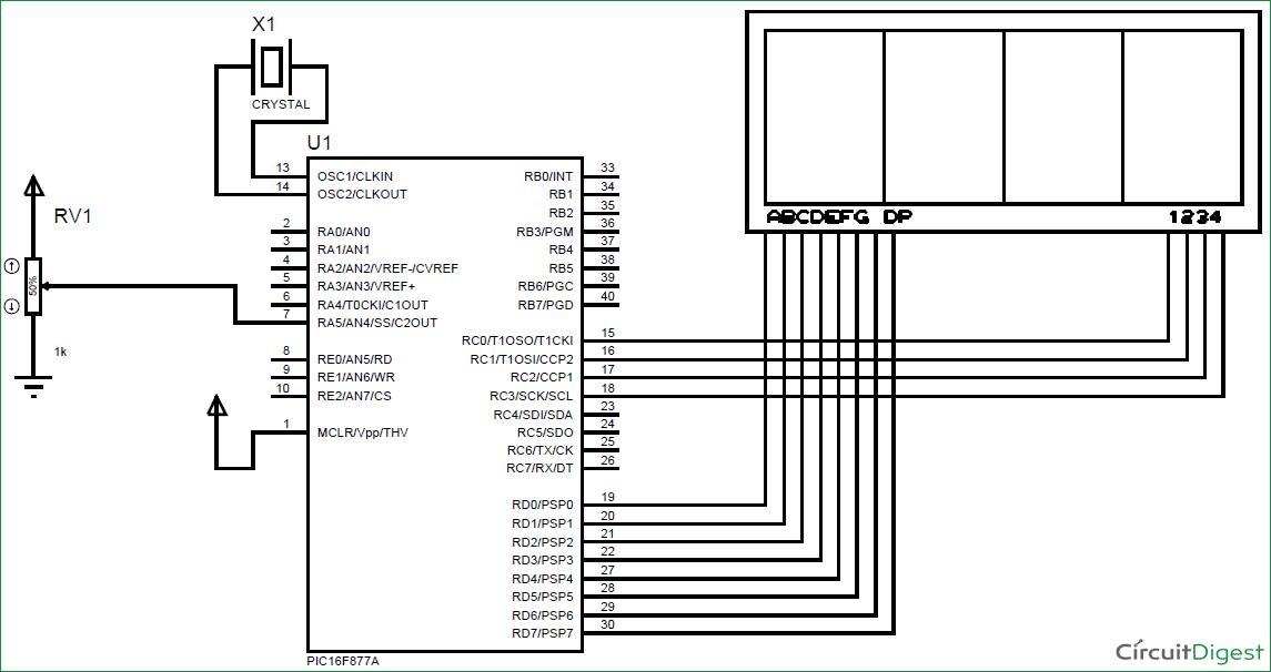 Using-ADC-Module-of-PIC-Microcontroller-circuit-diagram