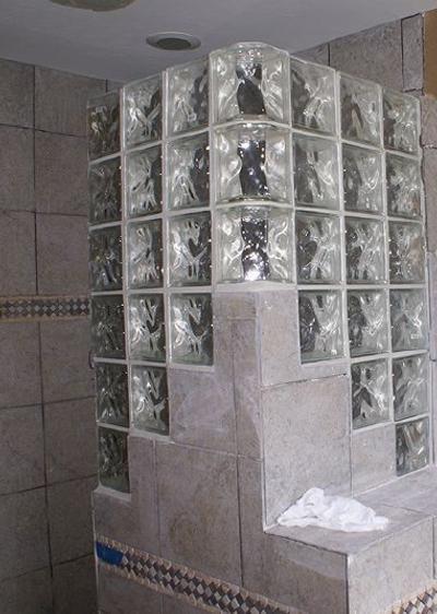 Aplicaciones Del Bloque De Cristal Segunda Parte Decoración De Baño Elegante Cuartos De Baños Pequeños Estilo De Baño