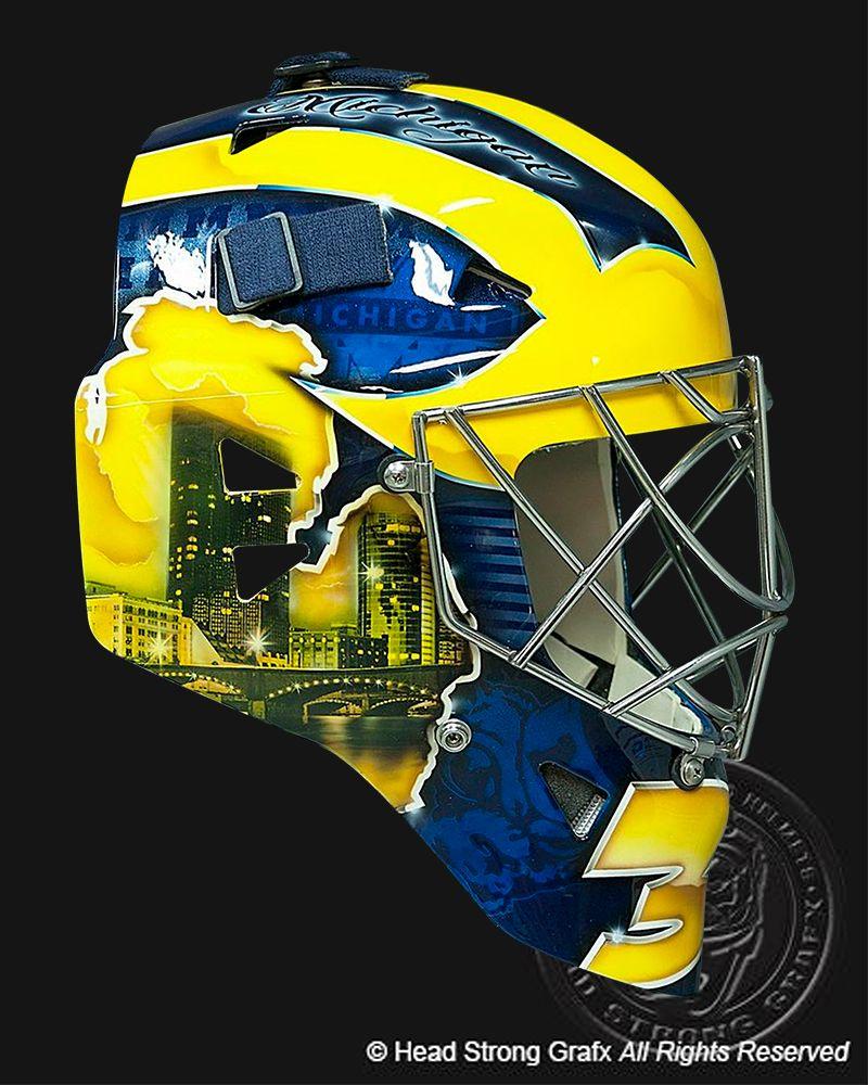 Michigan Goalie Mask Mask Painting Goalie