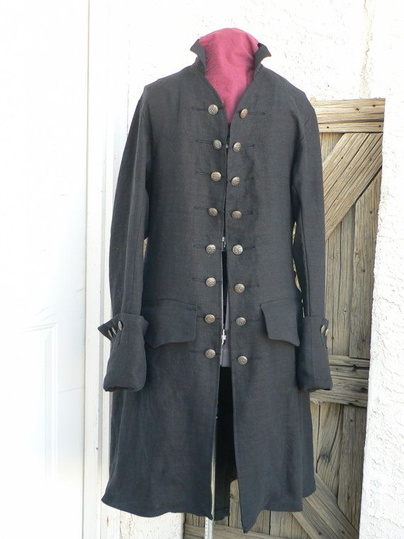Pirates of the Caribbean Pirate Coat Linen Will by ItsNotPajamas, $415.00